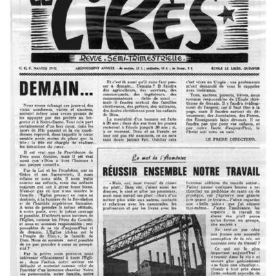 Le Likès revue semi-trimestrielle 1963-1964