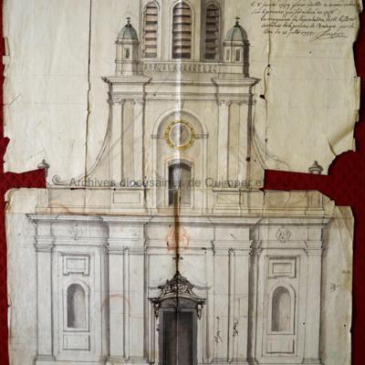 Elévation de l'église Saint-Louis de Brest