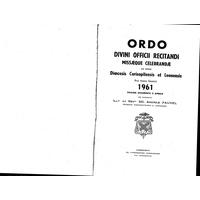 Annuaire diocésain année 1961