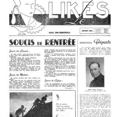 Le Likès revue semi-trimestrielle de l'amicale et des élèves du Likès 1955-1956