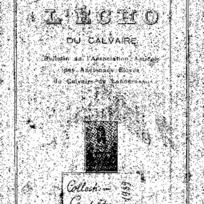L'Echo du Calvaire : bulletin de l'Association amicale des anciens élèves du Calvaire de Landerneau 1931