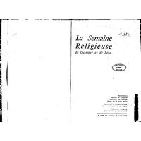 Semaine religieuse de Quimper et Léon 1972