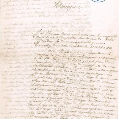 Enquête diocésaine sur le culte marial de 1856 : réponse de la paroisse de Guimaëc