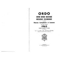 Annuaire diocésain année 1963