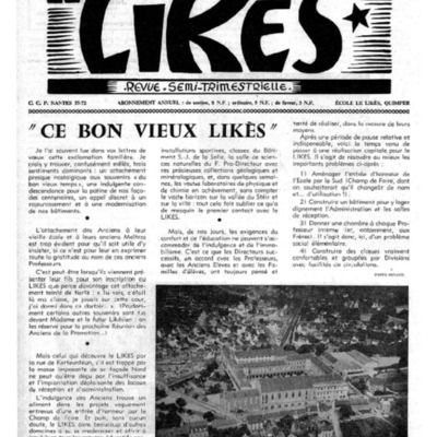 Le Likès revue semi-trimestrielle 1959-1960