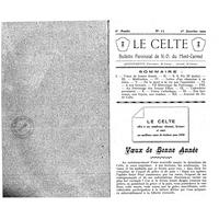 Le Celte : Bulletin Paroissial de Notre-Dame du Mont Carmel 1930