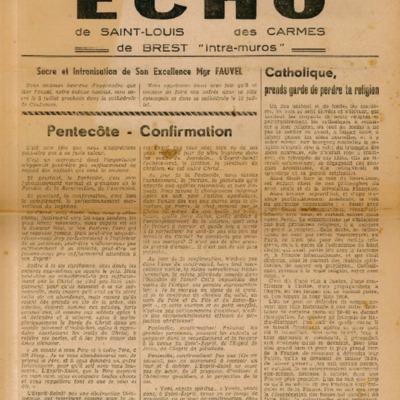 Echo Saint-Louis et Carmes 12 - juin 1947