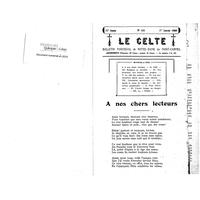Le Celte : Bulletin Paroissial de Notre-Dame du Mont Carmel 1939