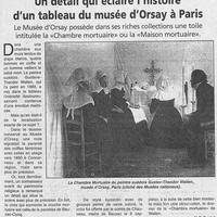 1451 Un détail qui éclaire l'histoire d'un tableau du Musée d'Orsay à Paris... 11.03.2000.