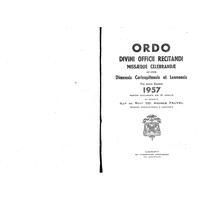 Annuaire diocésain année 1957