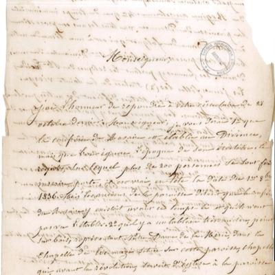 Enquête diocésaine sur le culte marial de 1856 : réponse de la paroisse du Drennec