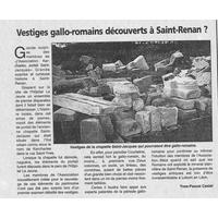 1456 Vestiges Gallo-Romains découverts à St-Renan... 16.06.2000.