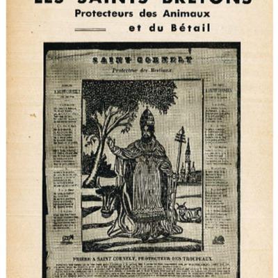 Stany Gauthier les saints bretons protecteurs des animaux et du bétail