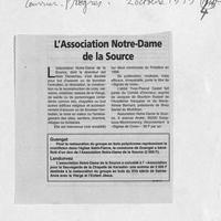 1445 L'association Notre-Dame de la Source... 02.10.99.