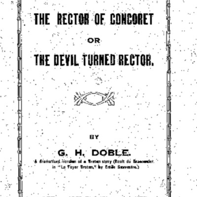 The rector of Concoret or the devil turned rector