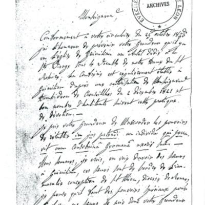 Enquête diocésaine sur le culte marial de 1856 : réponse de la paroisse de Guimiliau