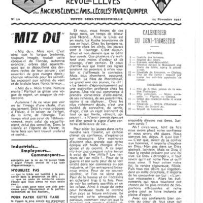Le Likès revue des anciens élèves et des amis de l'école  Sainte-Marie Quimper 1951-1952.pdf