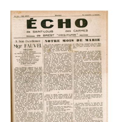 Echo Saint-Louis et Carmes 11 - mai 1947