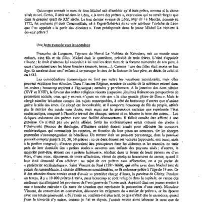 Dom Michel Le Nobletz : le prêtre