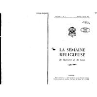 Semaine religieuse de Quimper et Léon 1963