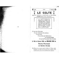 Le Celte : Bulletin Paroissial de Notre-Dame du Mont Carmel 1937