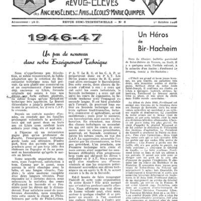 Le Likès revue des anciens élèves et des amis de l'école  Sainte-Marie Quimper 1946-1947.pdf