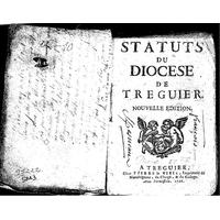Statuts du diocèse de Tréguier
