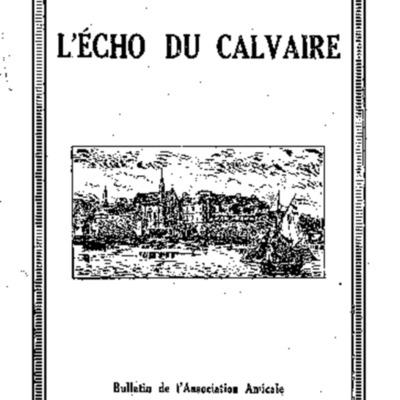 L'Echo du Calvaire : bulletin de l'Association amicale des anciens élèves du Calvaire de Landerneau 1936