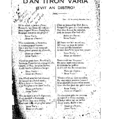 D'an Intron Varia (evit an distro)