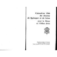 Annuaire diocésain année 1966