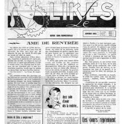 Le Likès revue semi-trimestrielle de l'amicale et des élèves du Likès 1953-1954
