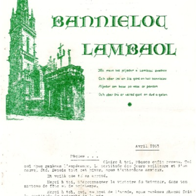 Bannielou Lambaol 1963