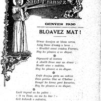 Kenteliou sant Fransez 1930