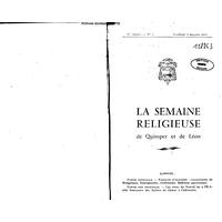 Semaine religieuse de Quimper et Léon 1962