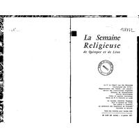 Semaine religieuse de Quimper et Léon 1971