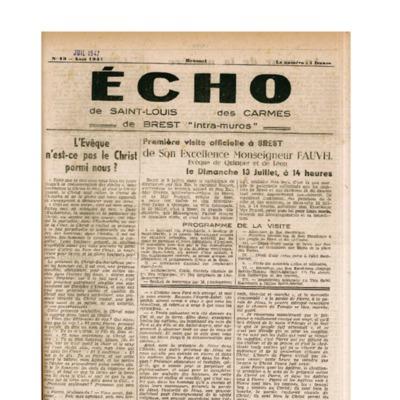 Echo Saint-Louis et Carmes 13 - juillet 1947