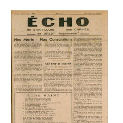 Echo Saint-Louis et Carmes 15 - novembre 1947