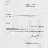 1451 bis Courrier du Musée d'Orsay...26.06.2000.
