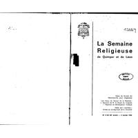 Semaine religieuse de Quimper et Léon 1968