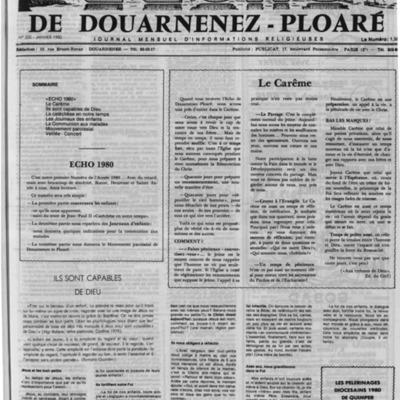 L'Echo de Douarnenez-Ploaré 1980