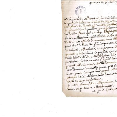 Lettre à un curé de paroisse