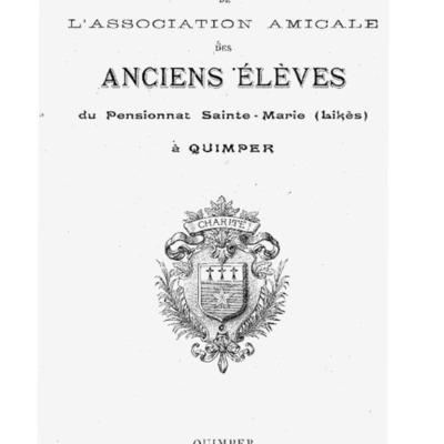[Likès] Bulletin de l'association amicale des anciens élèves du pensionnat Sainte-Marie Likès 1926.pdf