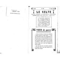 Le Celte : Bulletin Paroissial de Notre-Dame du Mont Carmel 1940