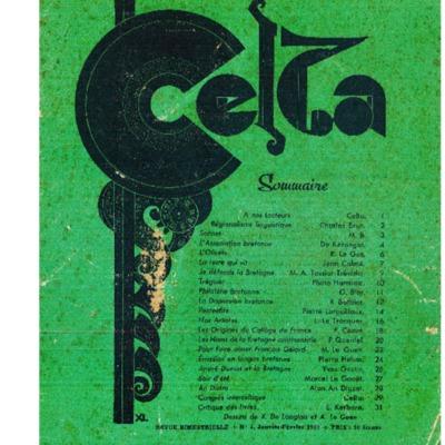 Celta : revue du centre d'études littéraires, touristiques et artistiques de Bretagne