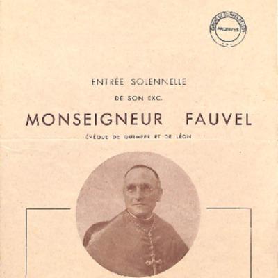 Entrée solennelle de Mgr Fauvel à Saint-Pol de Léon au début de son épiscopat