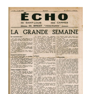 Echo Saint-Louis et Carmes 10 - avril 1947