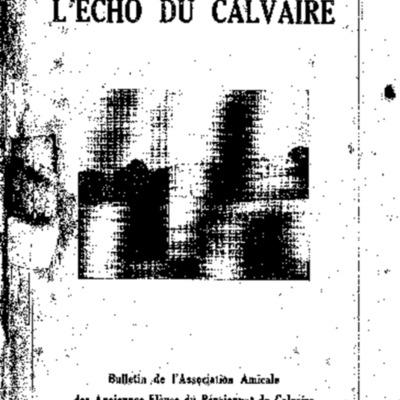 L'Echo du Calvaire : bulletin de l'Association amicale des anciens élèves du Calvaire de Landerneau 1935