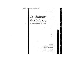 Semaine religieuse de Quimper et Léon 1973