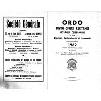 Annuaire diocésain année 1962