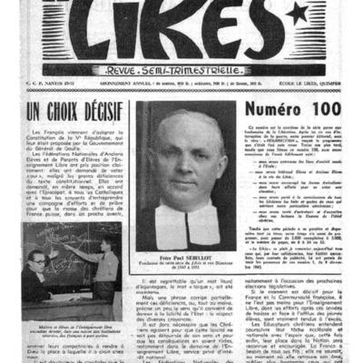 Le Likès revue semi-trimestrielle 1958-1959